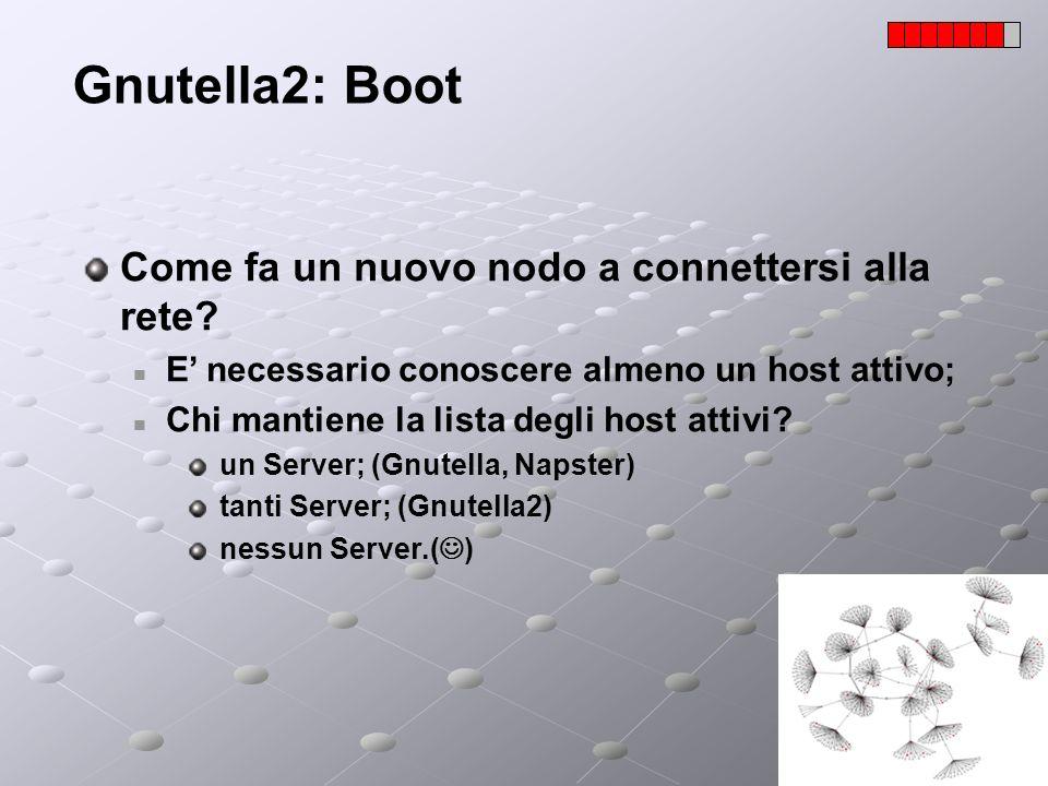 Gnutella2: Boot Come fa un nuovo nodo a connettersi alla rete