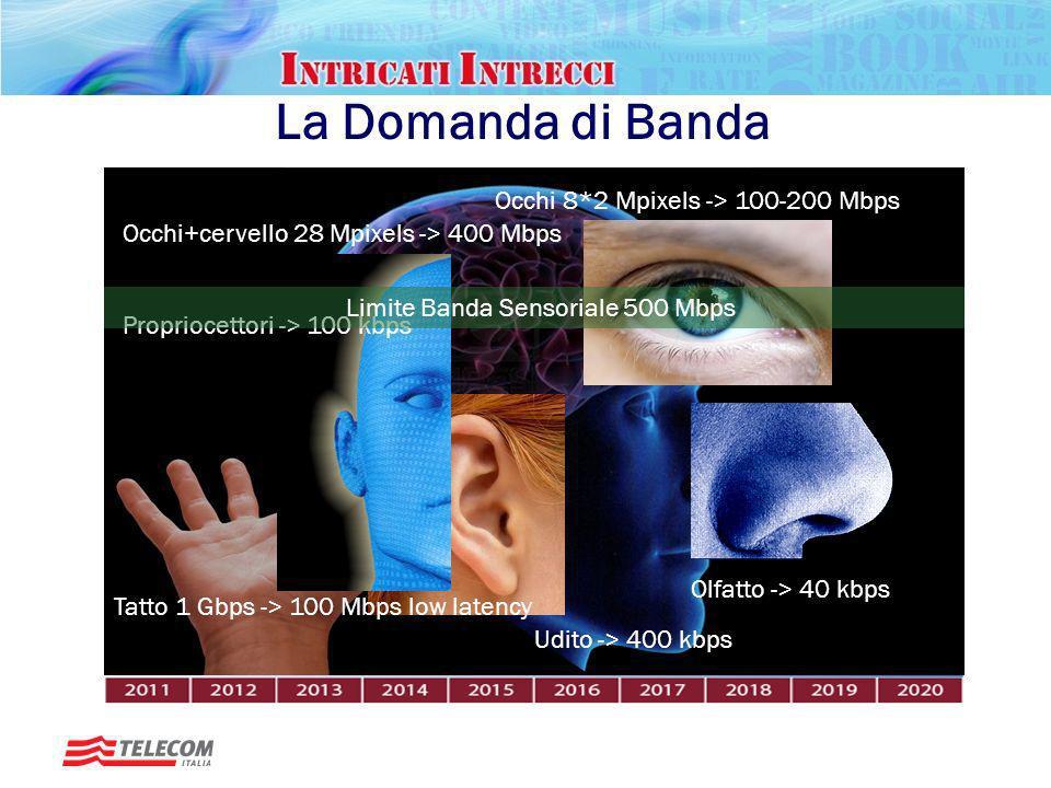 La Domanda di Banda Occhi 8*2 Mpixels -> 100-200 Mbps