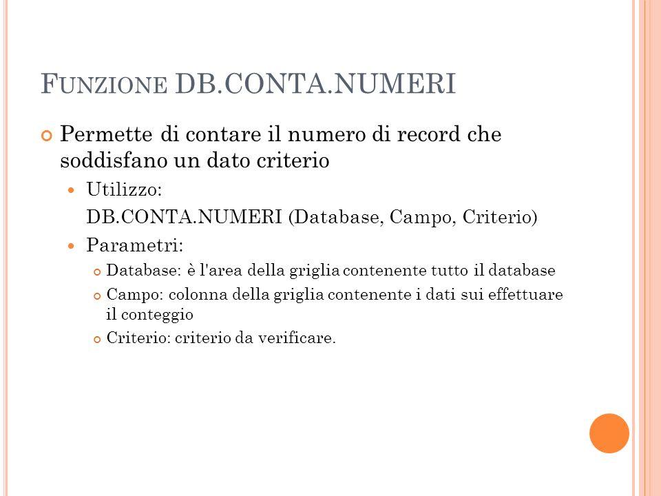 Funzione DB.CONTA.NUMERI