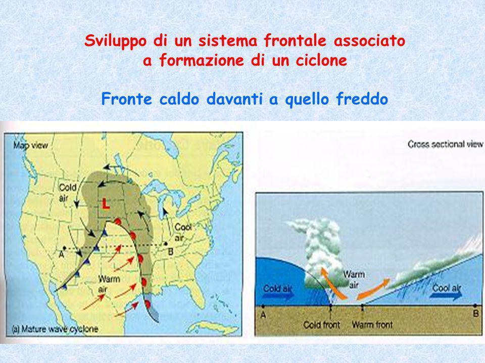 Sviluppo di un sistema frontale associato a formazione di un ciclone