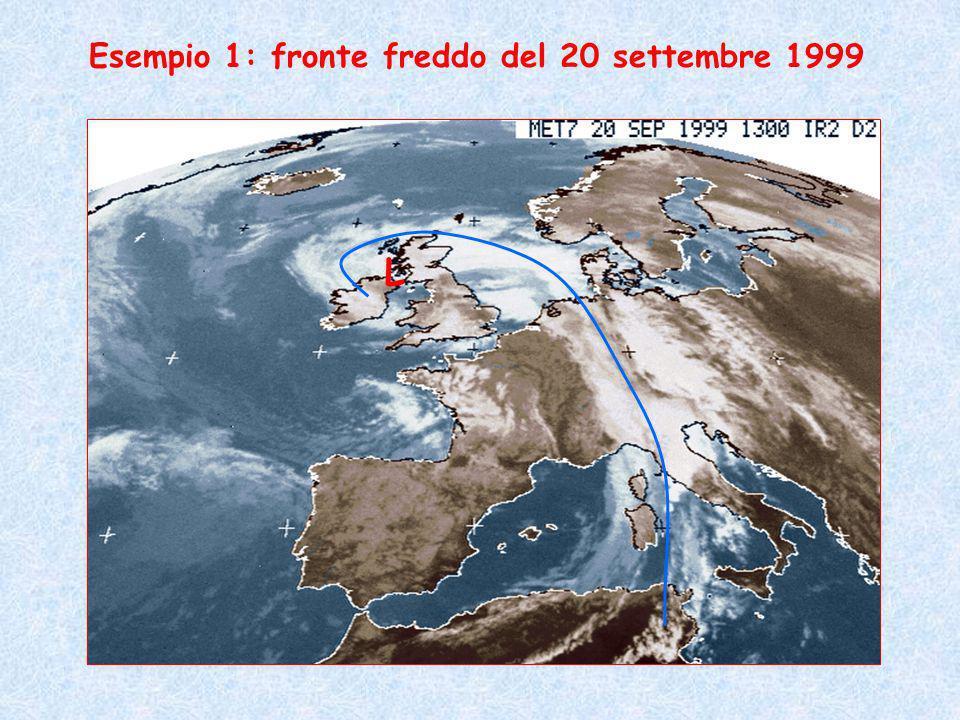 Esempio 1: fronte freddo del 20 settembre 1999