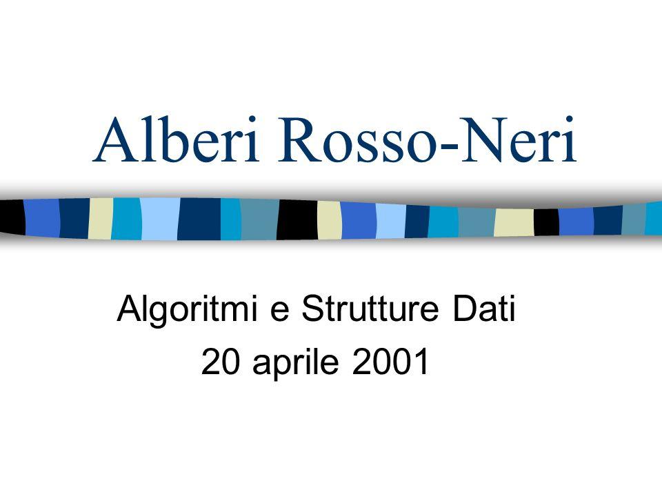 Algoritmi e Strutture Dati 20 aprile 2001