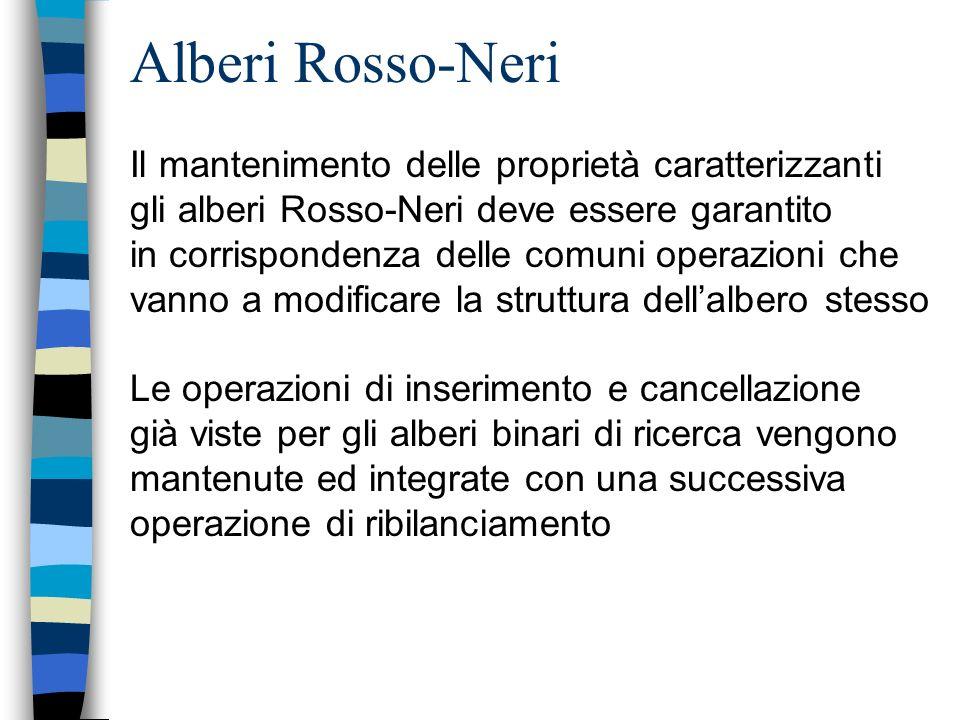 Alberi Rosso-Neri Il mantenimento delle proprietà caratterizzanti