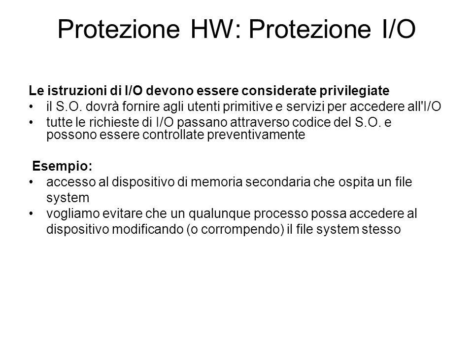 Protezione HW: Protezione I/O