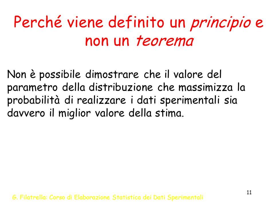 Perché viene definito un principio e non un teorema