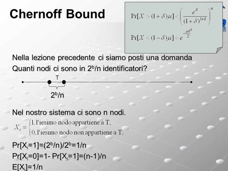 Chernoff Bound Nella lezione precedente ci siamo posti una domanda