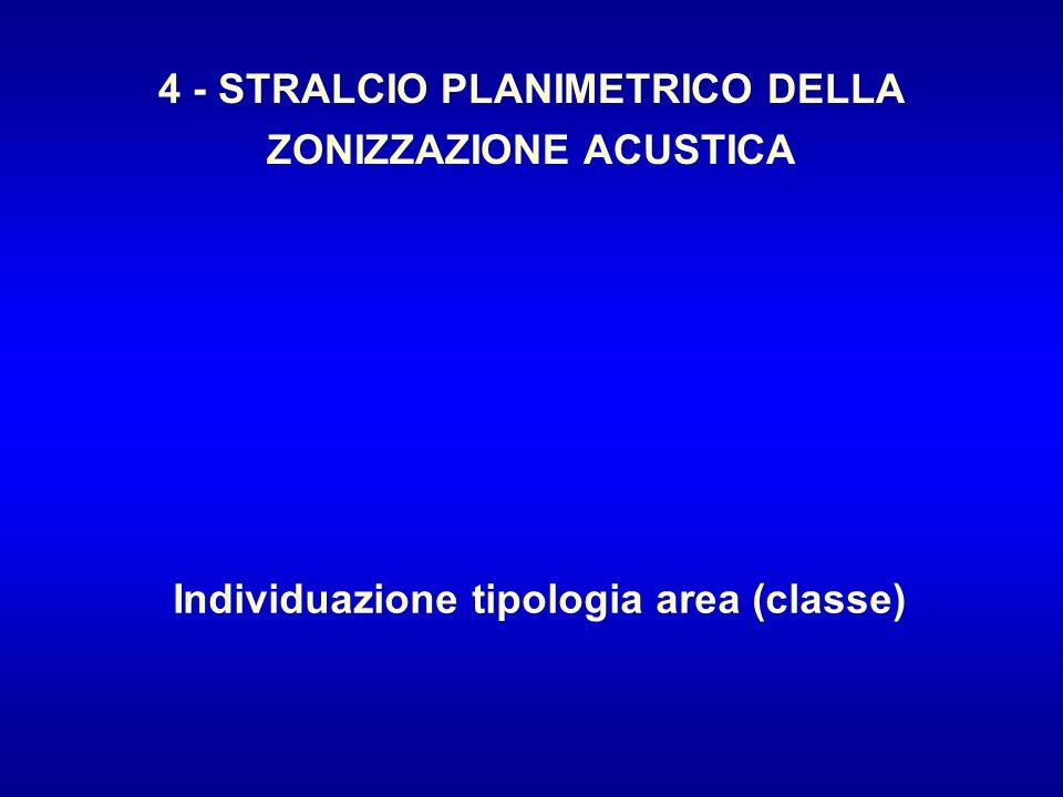 4 - STRALCIO PLANIMETRICO DELLA ZONIZZAZIONE ACUSTICA
