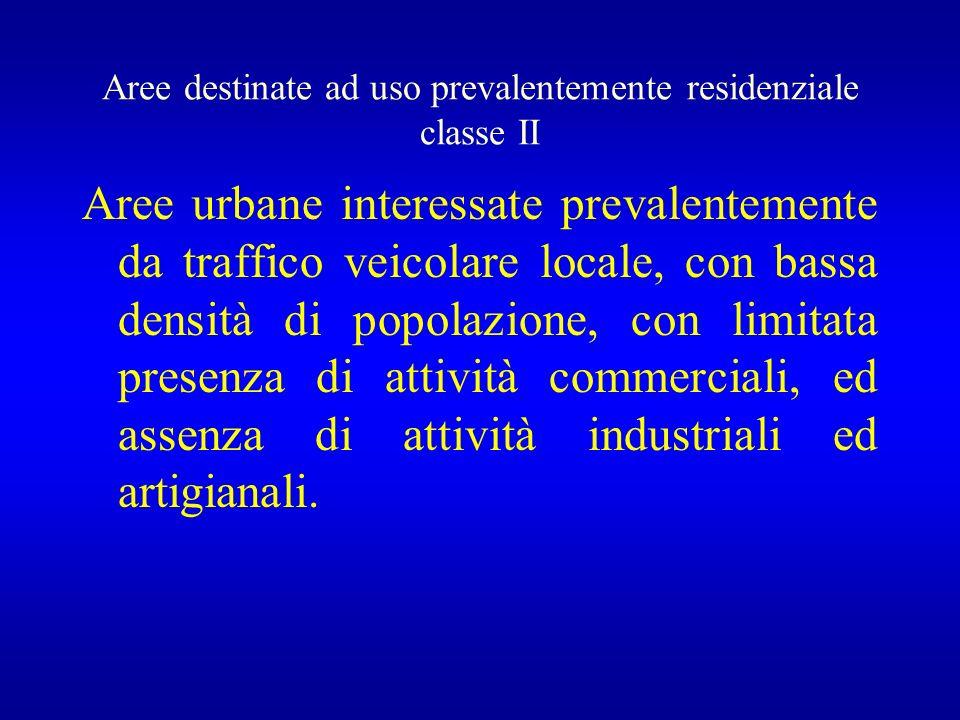 Aree destinate ad uso prevalentemente residenziale classe II