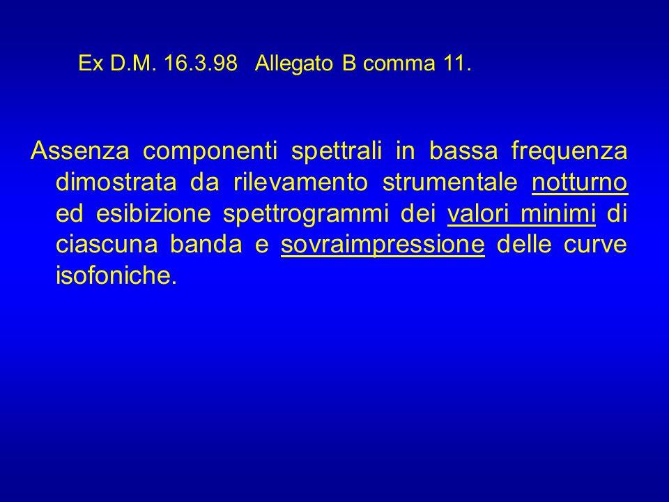 Ex D.M. 16.3.98 Allegato B comma 11.