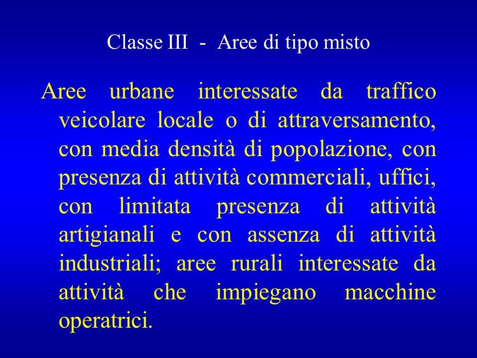 Classe III - Aree di tipo misto