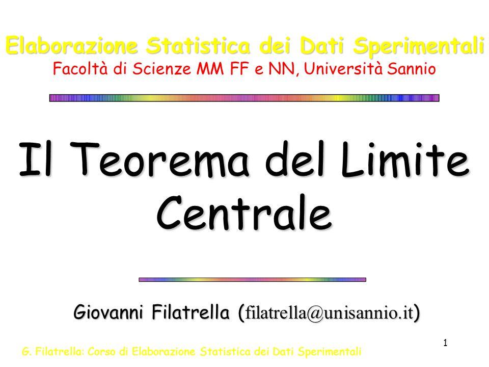 Il Teorema del Limite Centrale