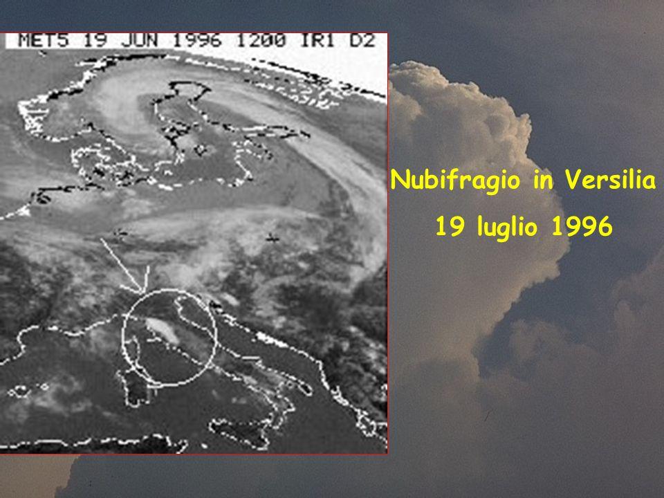Nubifragio in Versilia