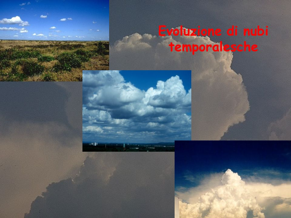 Evoluzione di nubi temporalesche