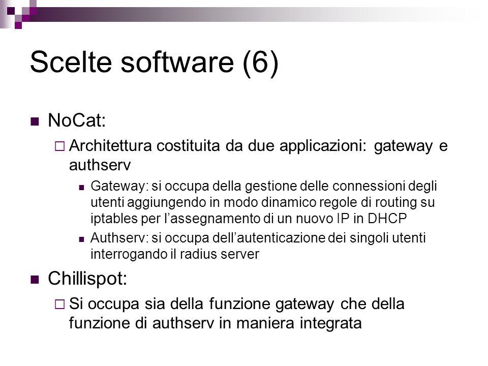 Scelte software (6) NoCat: Chillispot: