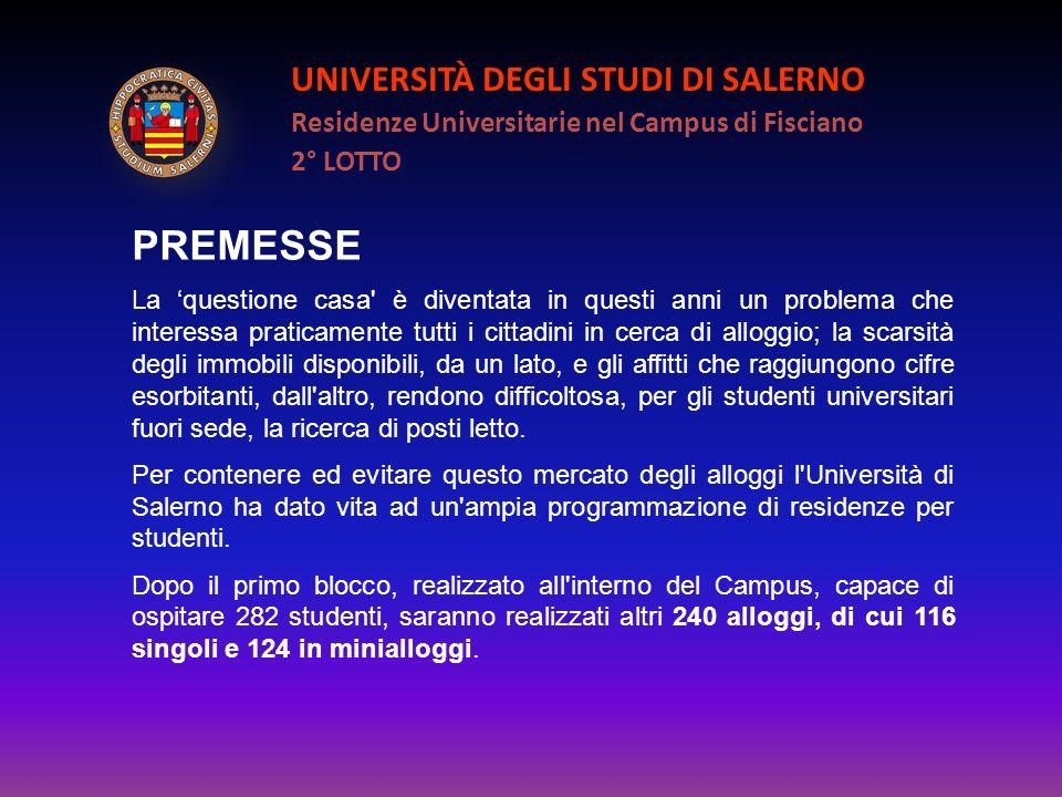 PREMESSE UNIVERSITÀ DEGLI STUDI DI SALERNO