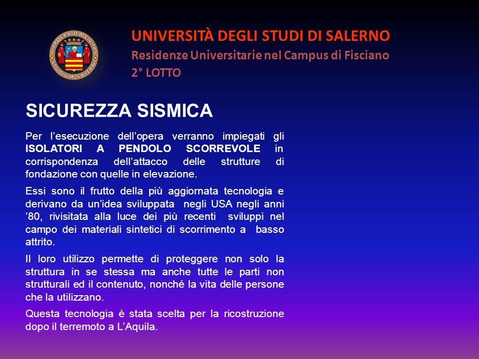 SICUREZZA SISMICA UNIVERSITÀ DEGLI STUDI DI SALERNO
