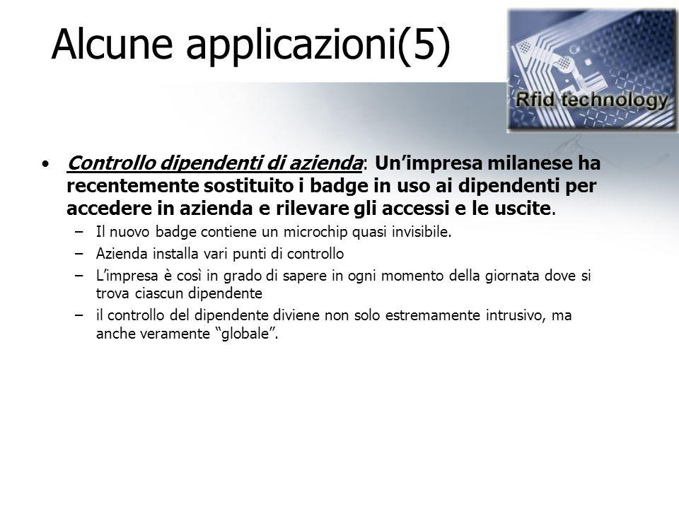 Alcune applicazioni(5)