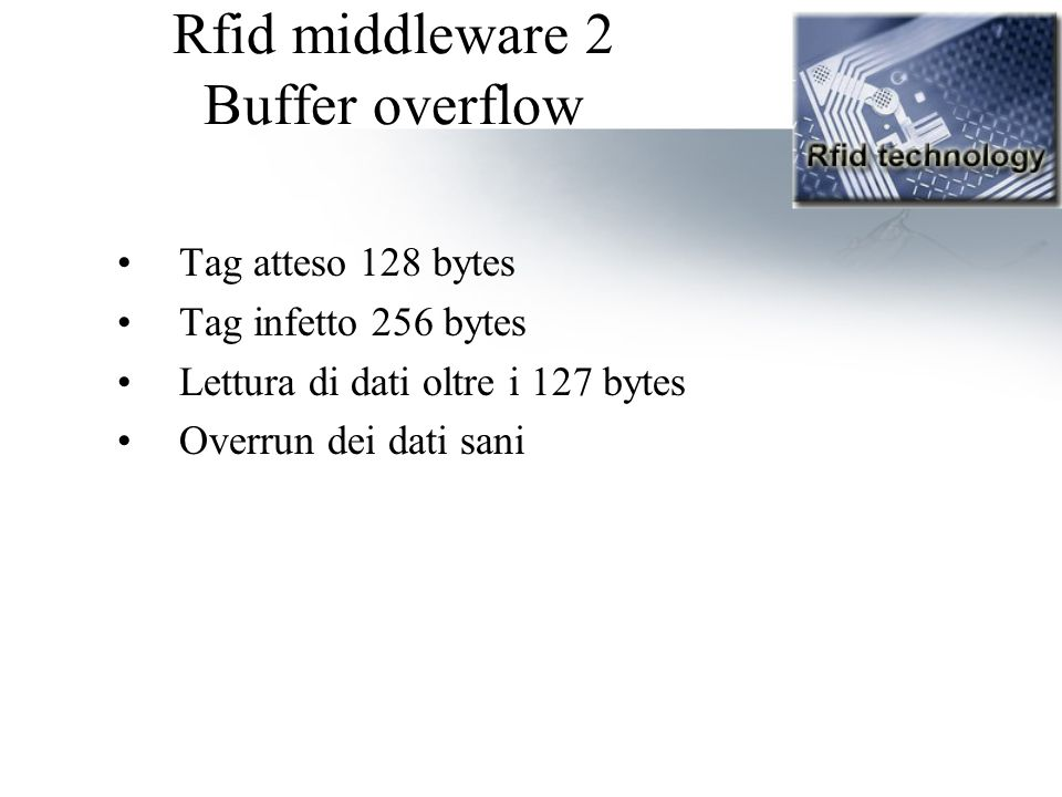 Rfid middleware 2 Buffer overflow