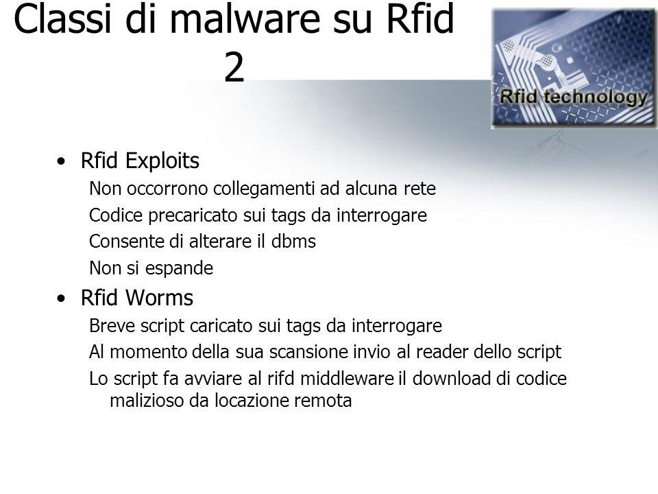 Classi di malware su Rfid 2