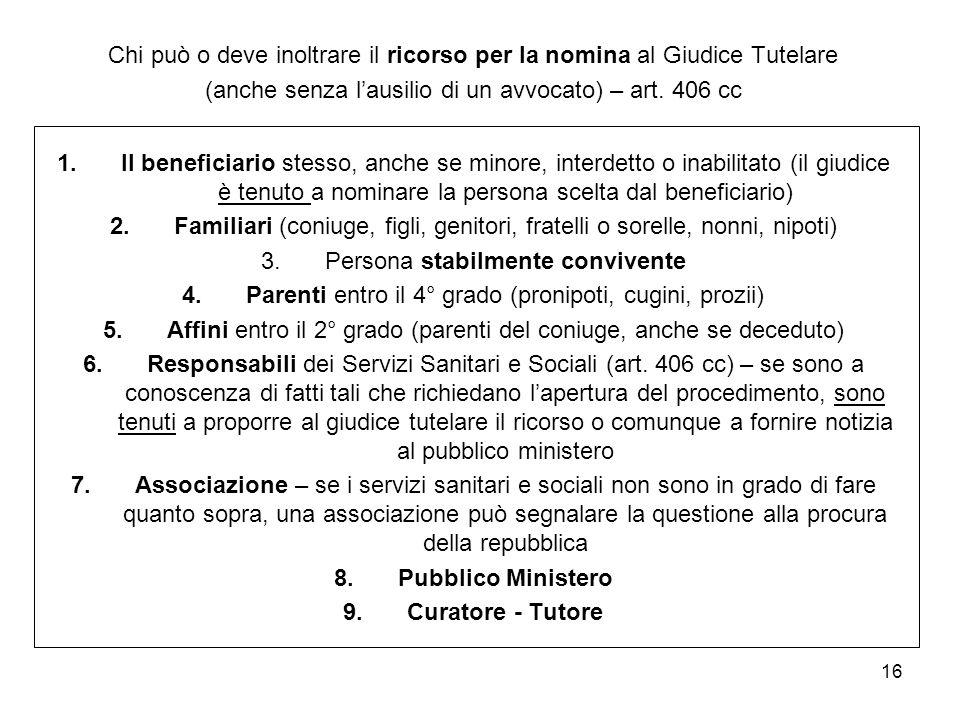 Pubblico Ministero Curatore - Tutore