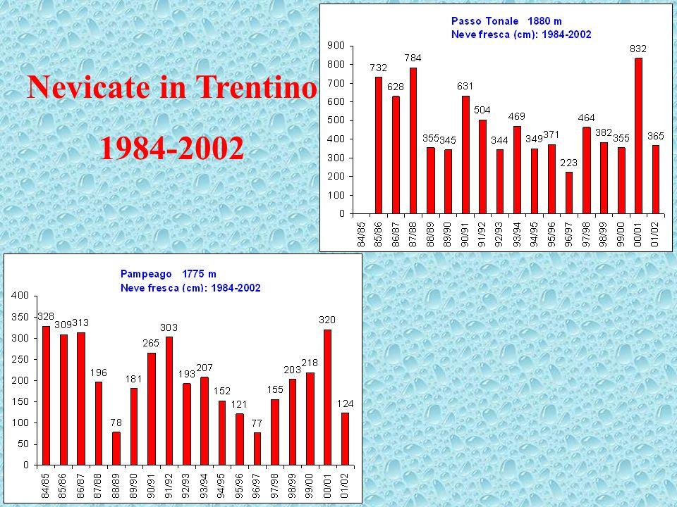 Nevicate in Trentino 1984-2002