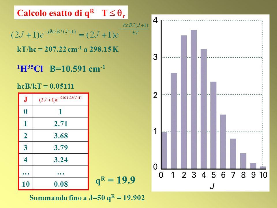 Calcolo esatto di qR T  r