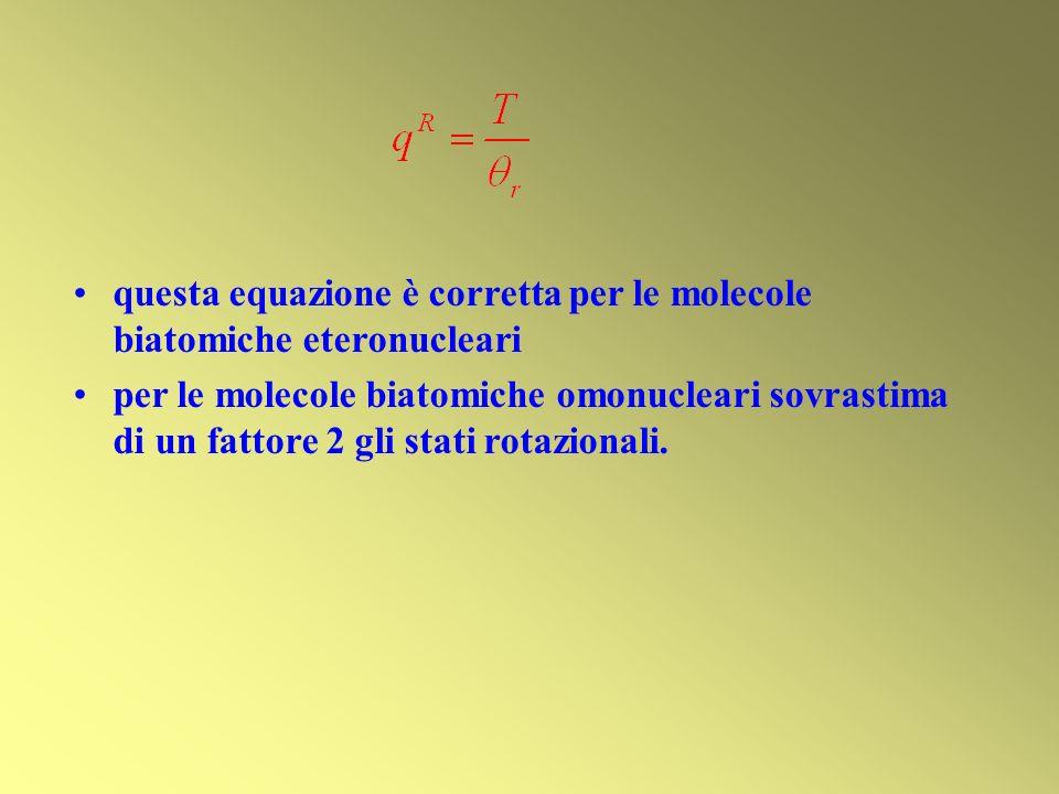 questa equazione è corretta per le molecole biatomiche eteronucleari