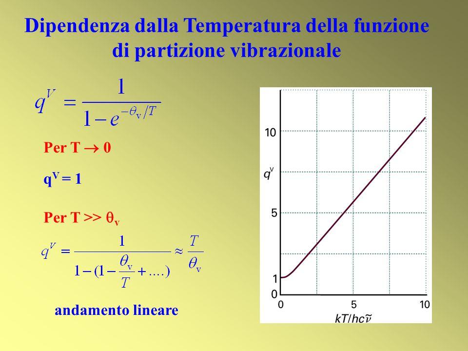 Dipendenza dalla Temperatura della funzione di partizione vibrazionale