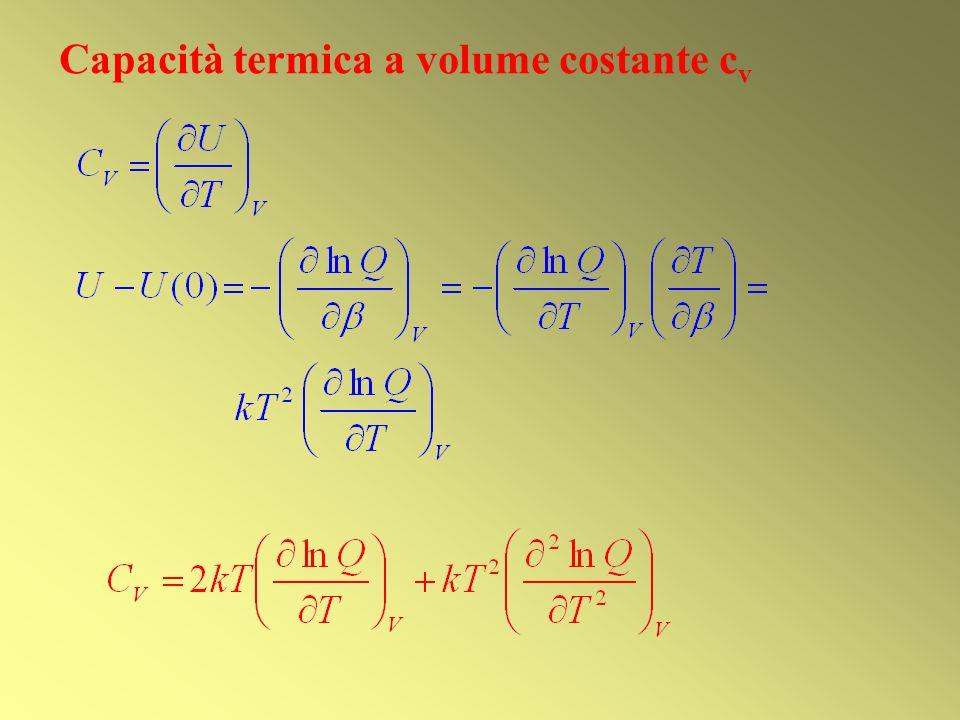 Capacità termica a volume costante cv