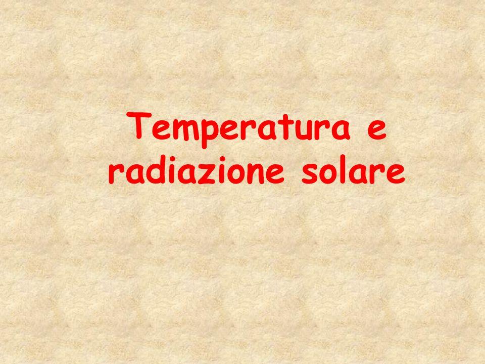 Temperatura e radiazione solare