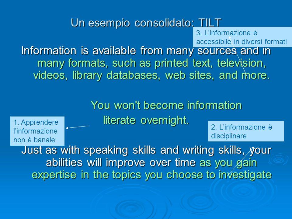 Un esempio consolidato: TILT
