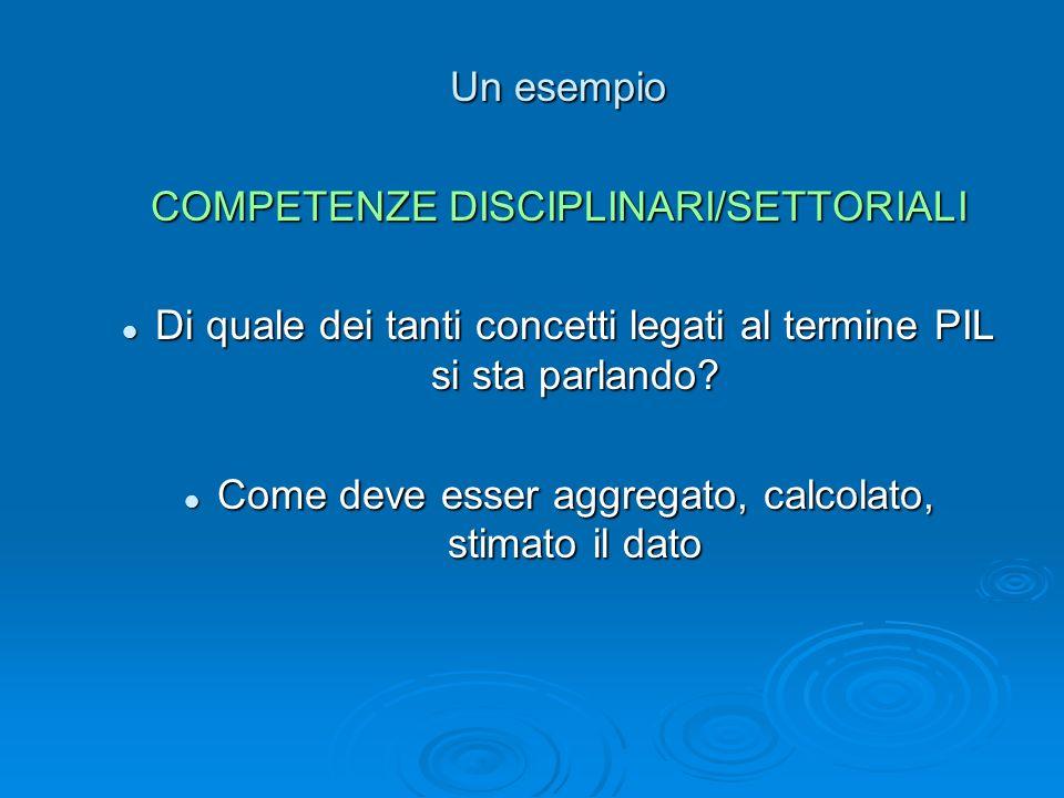 COMPETENZE DISCIPLINARI/SETTORIALI