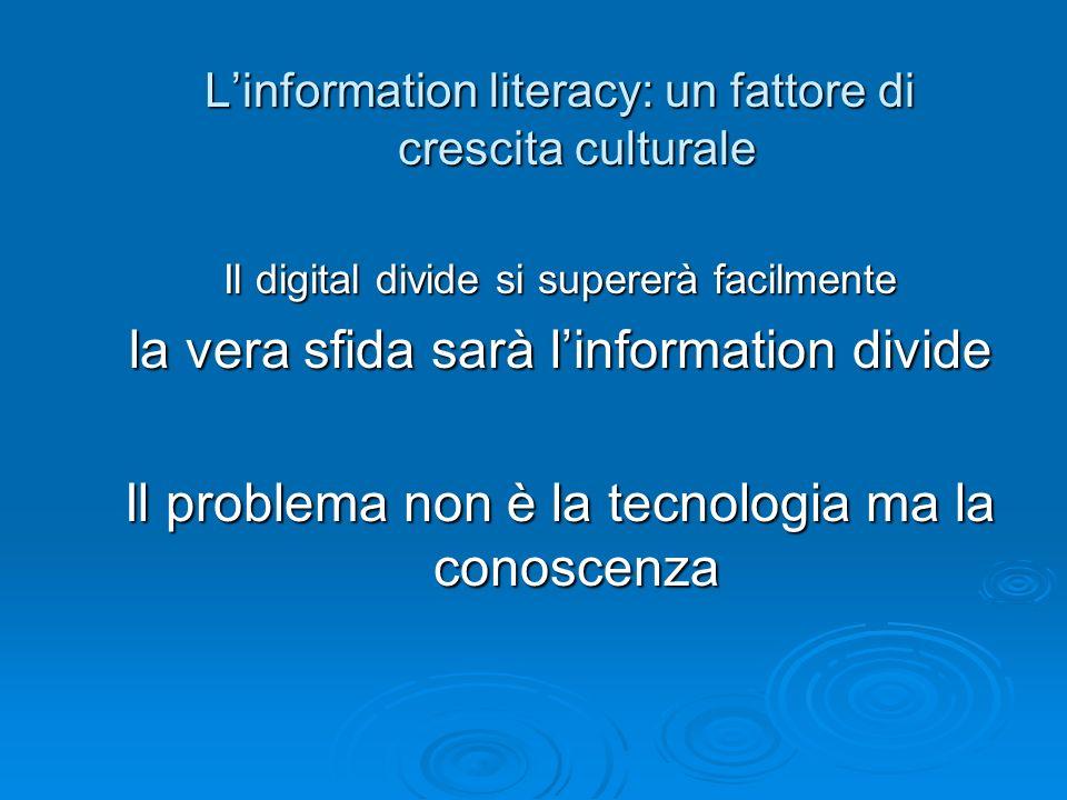 la vera sfida sarà l'information divide