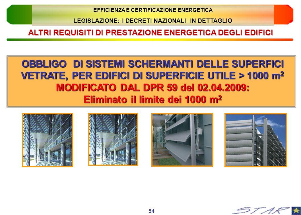 MODIFICATO DAL DPR 59 del 02.04.2009: Eliminato il limite dei 1000 m2