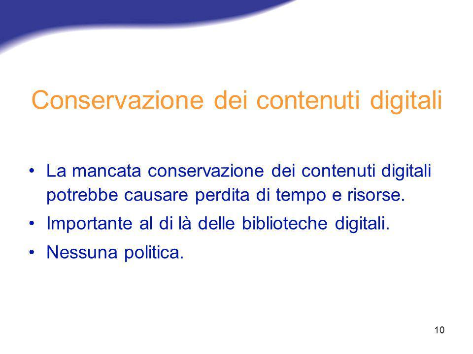 Conservazione dei contenuti digitali