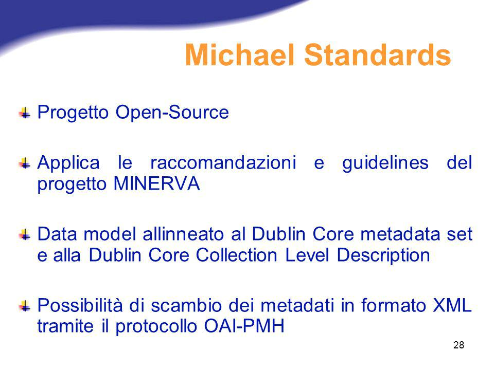 Michael Standards Progetto Open-Source