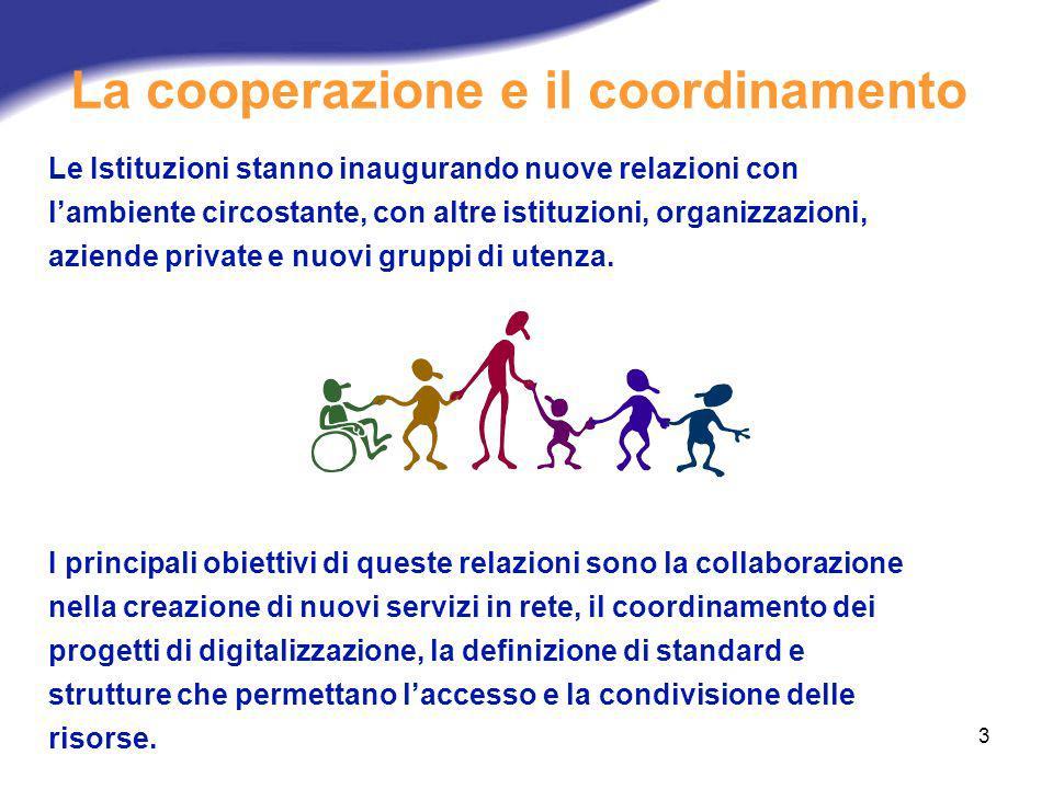 La cooperazione e il coordinamento