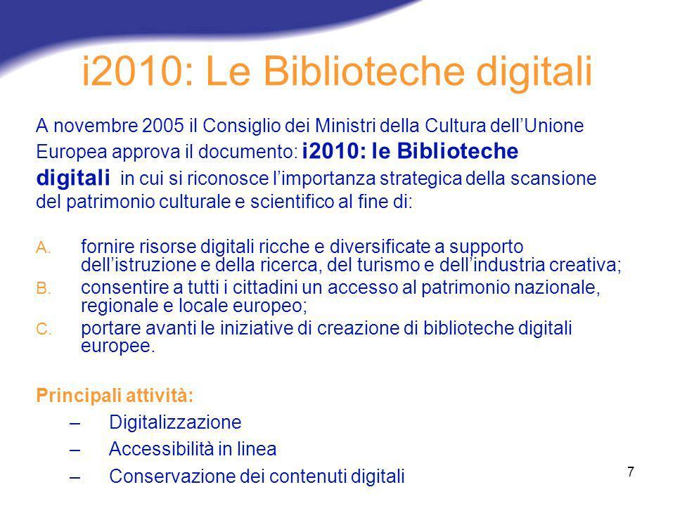i2010: Le Biblioteche digitali