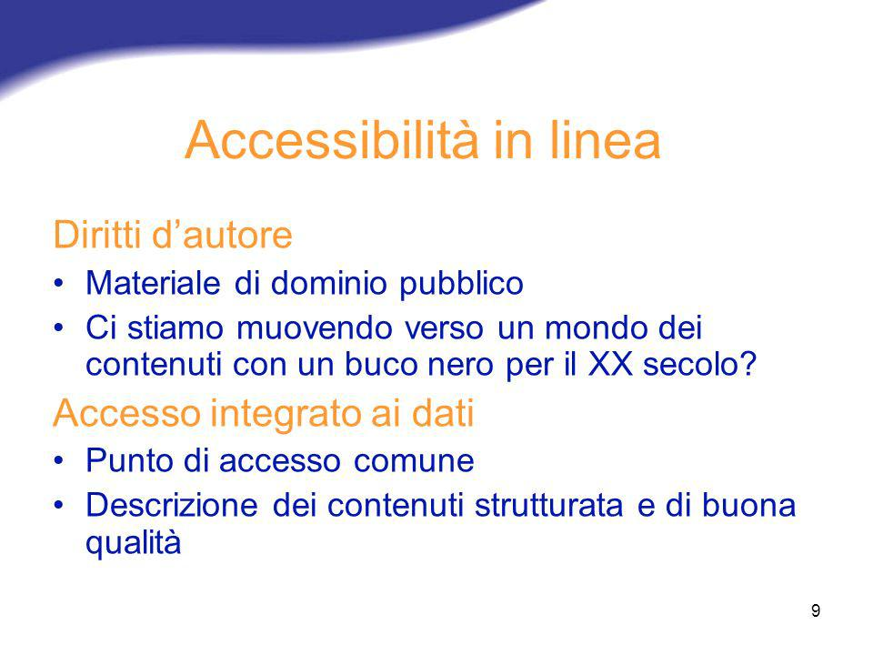 Accessibilità in linea