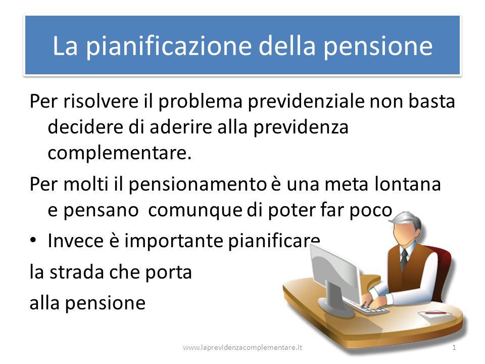 La pianificazione della pensione