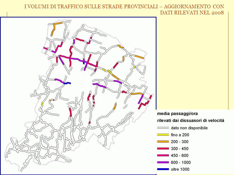 I VOLUMI DI TRAFFICO SULLE STRADE PROVINCIALI – AGGIORNAMENTO CON DATI RILEVATI NEL 2008