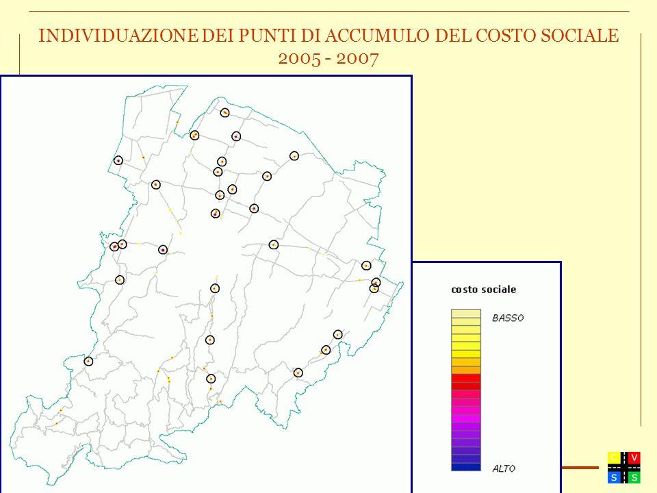 INDIVIDUAZIONE DEI PUNTI DI ACCUMULO DEL COSTO SOCIALE