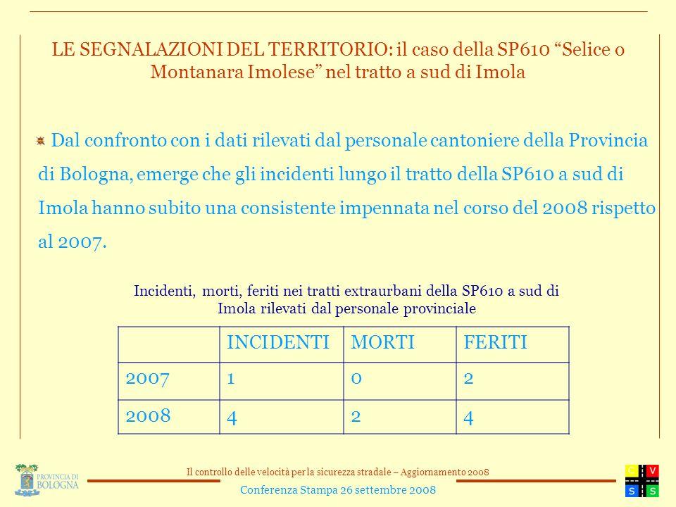 LE SEGNALAZIONI DEL TERRITORIO: il caso della SP610 Selice o Montanara Imolese nel tratto a sud di Imola