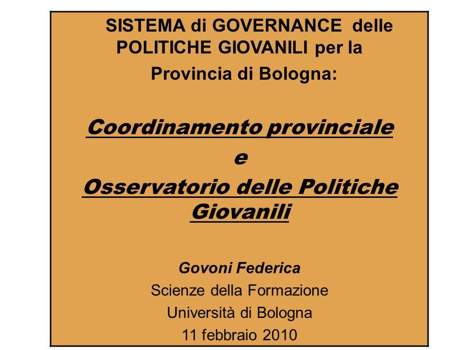 Coordinamento provinciale Osservatorio delle Politiche Giovanili