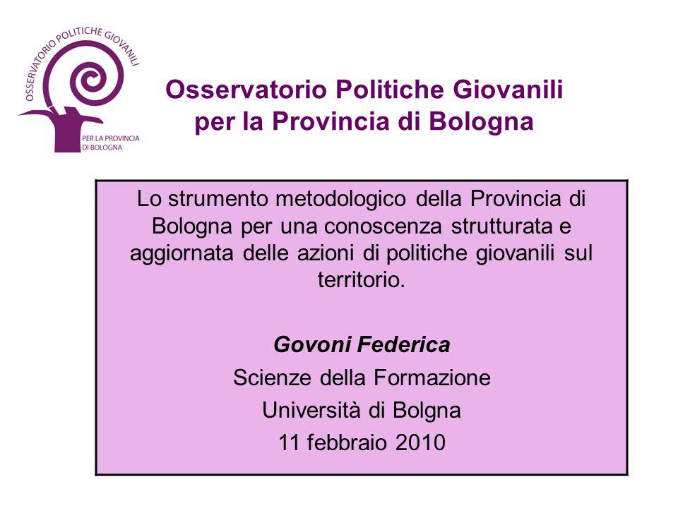 Osservatorio Politiche Giovanili per la Provincia di Bologna