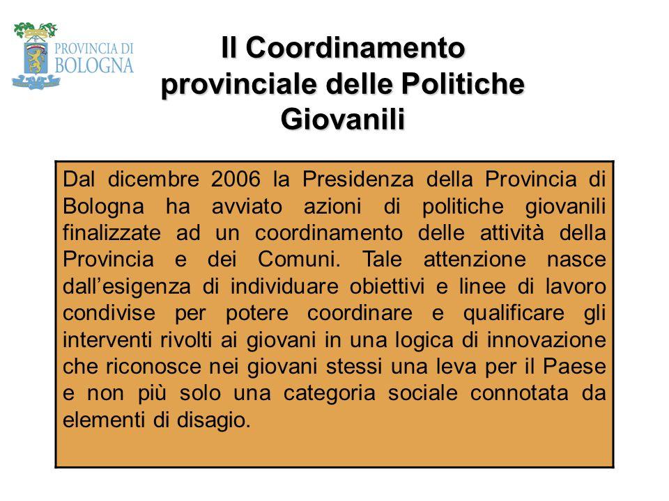 Il Coordinamento provinciale delle Politiche Giovanili
