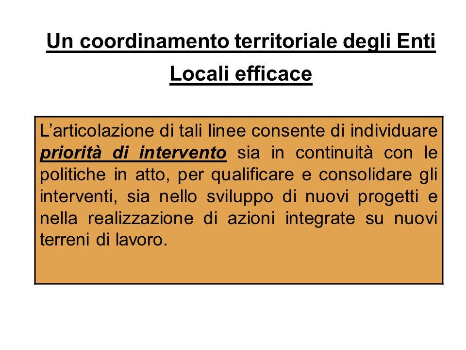 Un coordinamento territoriale degli Enti Locali efficace