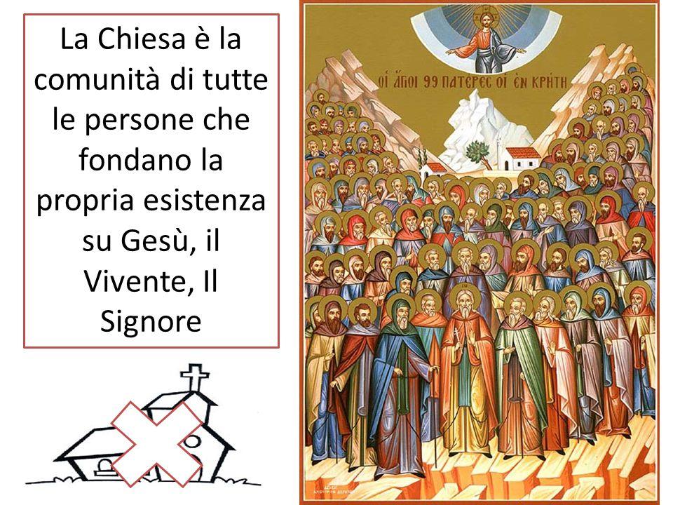 La Chiesa è la comunità di tutte le persone che fondano la propria esistenza su Gesù, il Vivente, Il Signore