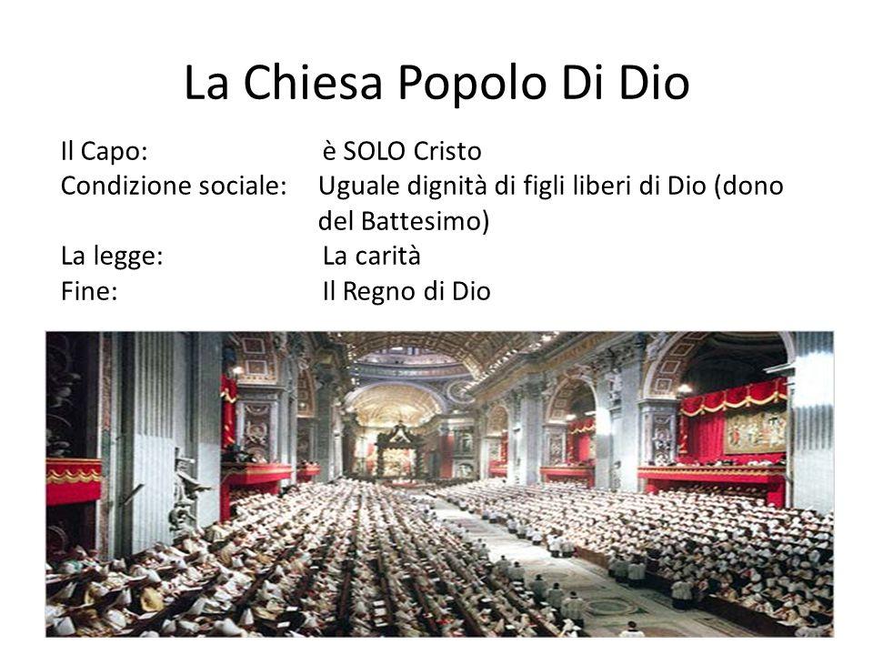 La Chiesa Popolo Di Dio Il Capo: è SOLO Cristo