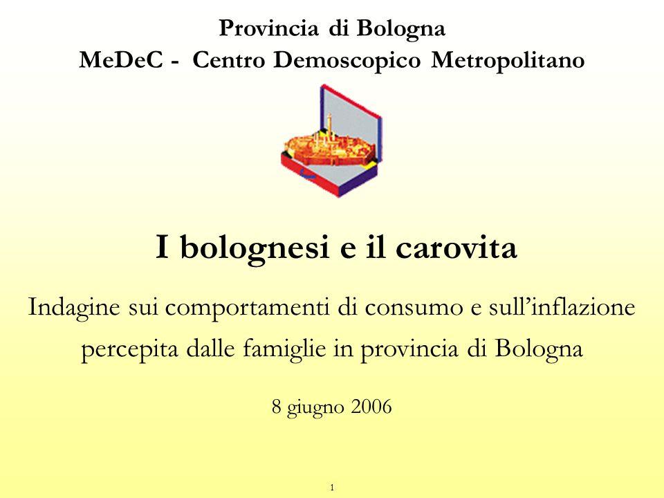 I bolognesi e il carovita